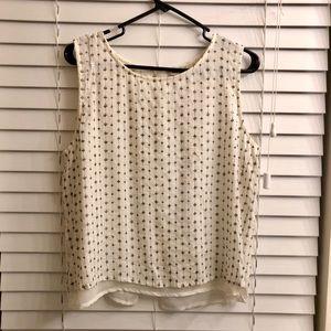 Lucky brand sleeveless blouse